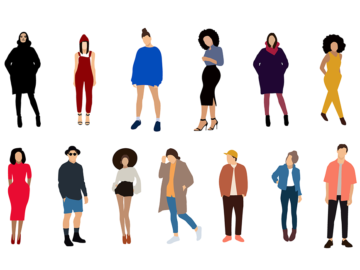 FLat People Illustration For Free