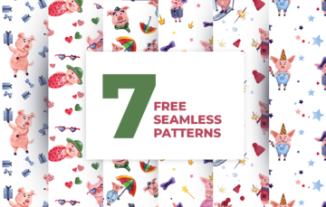 hand-drawing watercolor free patterns