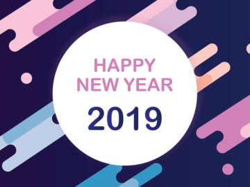 2019 new year free vector background