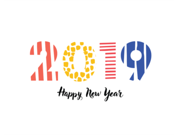 free vector 2019 new year
