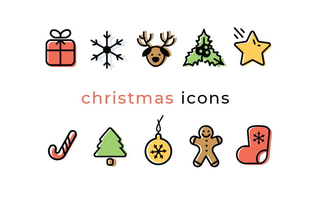 Christmas Icons Png.Christmas Vector Icon Set Vector For Free