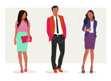 Stylized illustration of business people