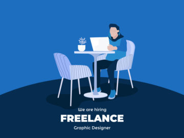 Freelancer Illustration Free Vector