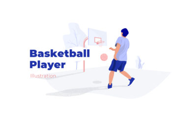Basketball Player Illustration