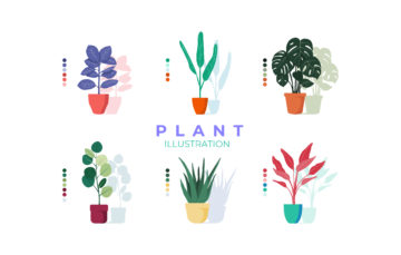 Free Vector Plants Illustrations