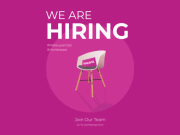 We are Hiring Banner Free Vector Illustration