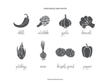 Set Of Fruit & Vegetables