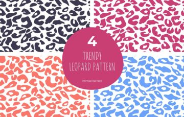 Set Of Trendy Leopard Pattern