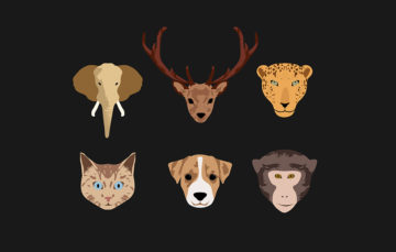 Stylized Animal Illustration Free Vector