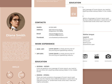 CV Template VectorForFree