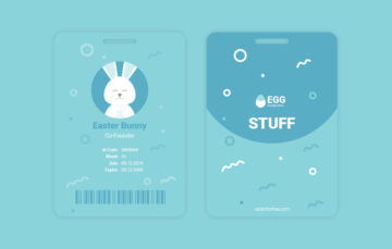 ID Card Template Easter