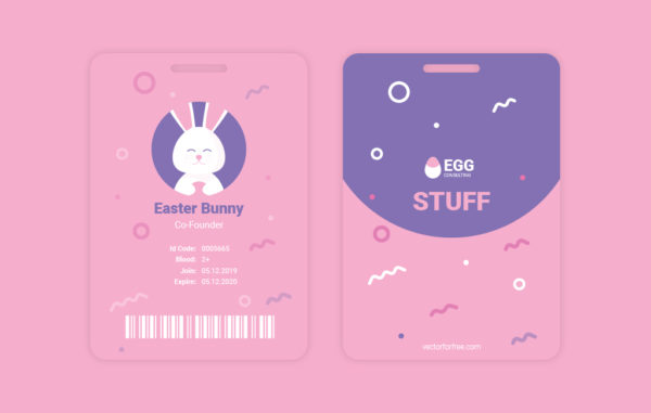 Easter Bunny Free Vector Illustration Badge