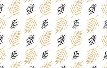 seamless floral pattern golden palm leaf free vector