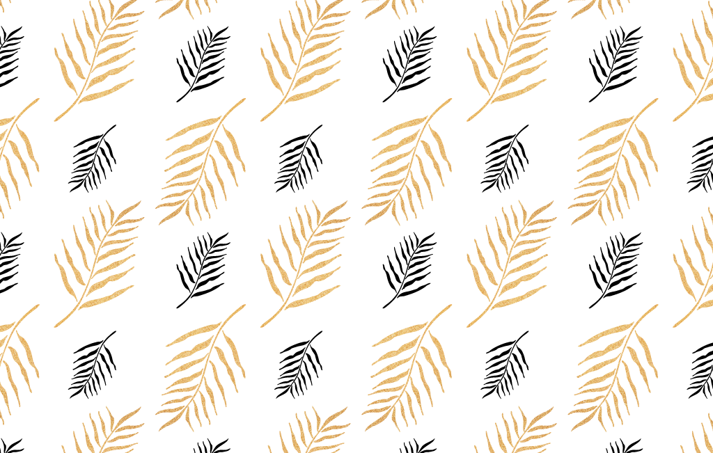 Black and Gold Leaf Pattern - Vector For Free