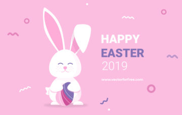 Easter Greeting Cards Free Vector Illustration