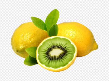 A Mixture Of Lemon And Kiwi PNG