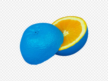 Blue Orange Citrus PNG
