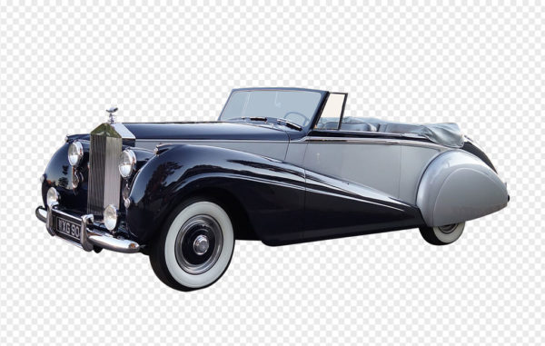 Convertible Vintage Rolls Royce PNG