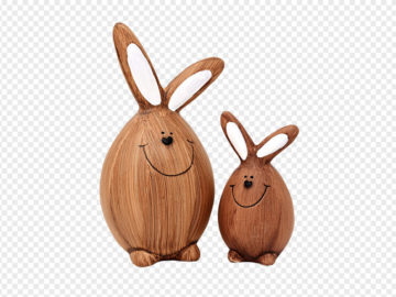 Wooden Bunny PNG