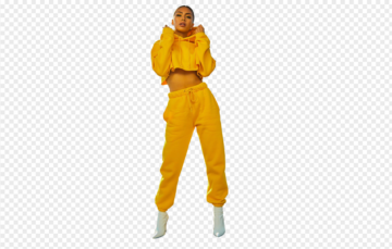 Girl in yellow PNG
