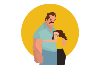 Father and Daughter Relationship Free Vector Illustration