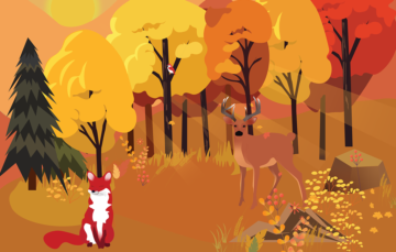 Autumn Forest Free Vector