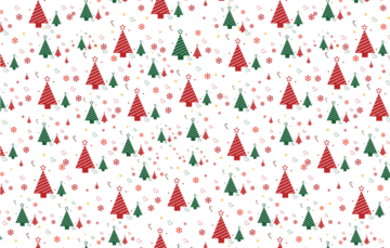 Winter Christmas Tree Pattern Free Vector