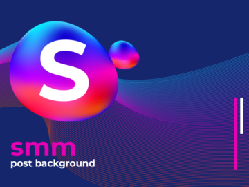 SMM post Abstract Colorful Free Vector Background