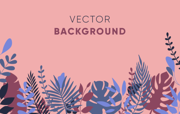 Floral Vector Background Free Download