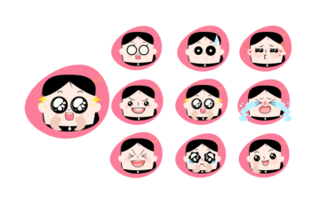 Emotions Vector Stickers Free Illustration