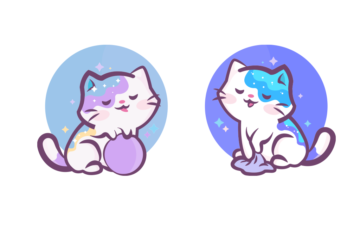 Kawai Stickers Vector Cats Free Illustration