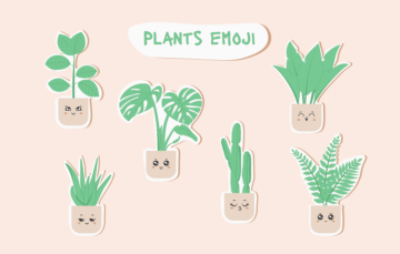 Plants Emoji Vector Cactus Free Illustration