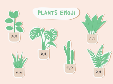Plants Emoju Vector Cactus Free Illustration