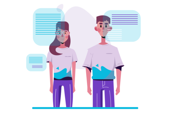Thinking About Project Working Illustration Free vector