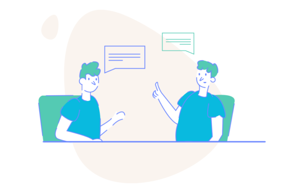 Project Discussion Illustration Free vector