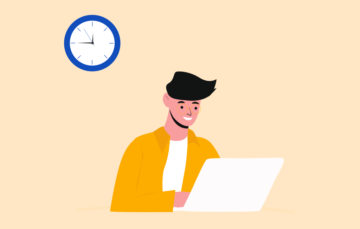 Timing Project Working Illustration Free vector