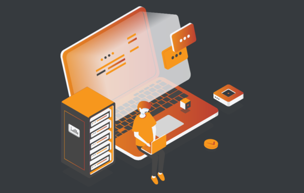 Isometric Illustration Working IT process Free Vector