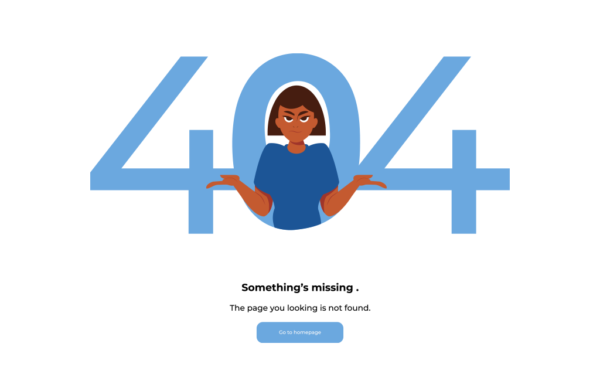 404 Page Not Found Free Illustration
