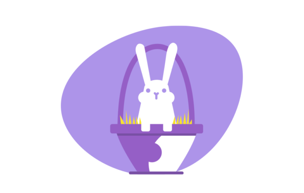 Eater basket Rabbit Vector Illustration Free Download