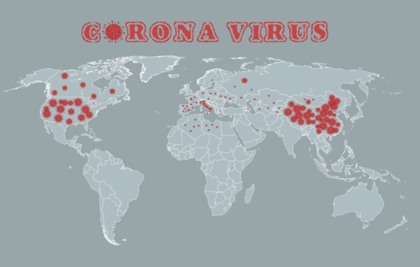 Corona Virus Map Vector