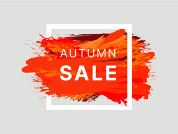 Autumn Sale Banner Post Free Vector