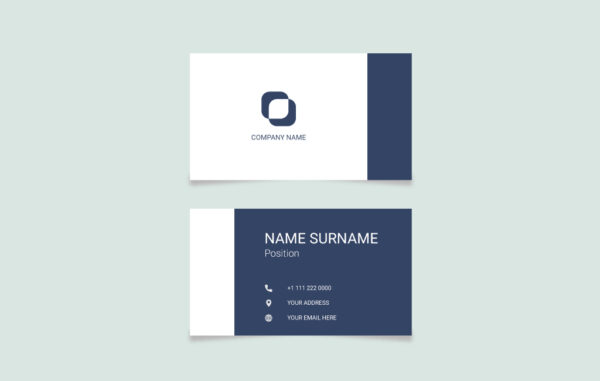 Business Card Vector Template Free Download