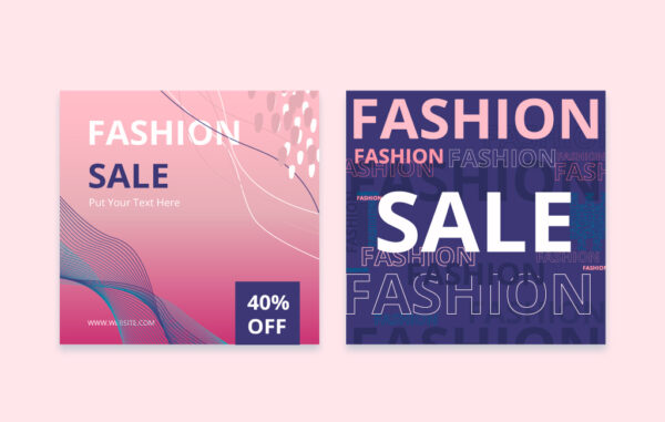 fashion sale post template free download