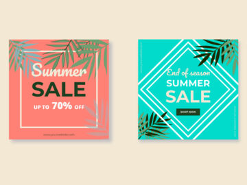 Sammer Sale Banner Post template free download