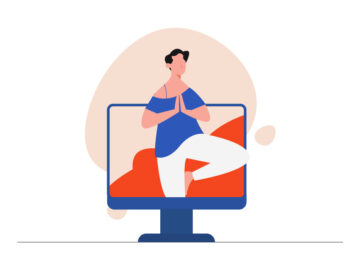 Online Yoga Coach Free Illustration