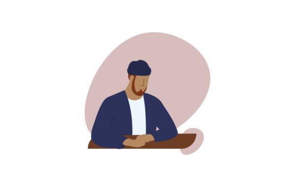 Sitting Man Free UI illustration