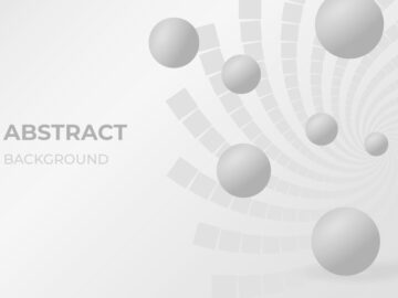 Abstract-Vector Background With Spheres Free Download