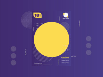Banner Yellow and Purple free template