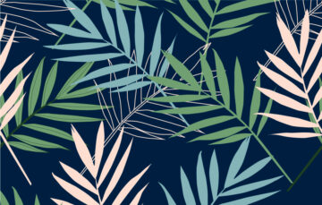 Leaves Seamless Pattern On Dark Background Free Download