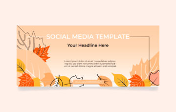 autumn cover smm template